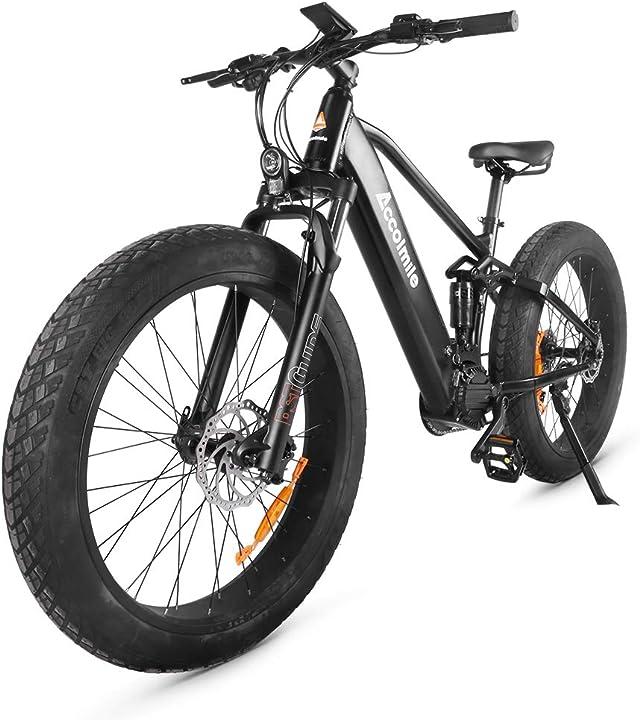 Bicicletta elettrica da 26 pollici batteria al litio rimovibile da 14ah/12,8 ah - accolmile B08SQL8HY9