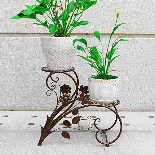 Porte-fleurs Balcon étage échelle pots de fleurs, salon intérieur et extérieur fleur grilles, fer de style européen Green Lantern fleur broches, multicolore sélection Support de fleurs ( Couleur : Bronze )