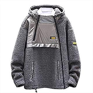 2019 Cotton Winter Coat for Men Fashion Warm Long Sleeve Casual Print Jacket Plus Size Big and Tall Outwear Pocket