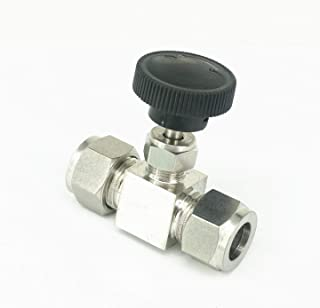 NO-LOGO SUOFEILAIMU-Valve 1//4 Inch NPT Male Needle Valve 304 Stainless Steel Water Gas Oil Flow Control