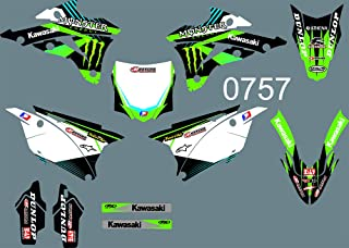 DST0757 3M Customized Motorcross Stickers Motorcycle Decals Graphics Kit for KAWASAKI KX85 2014-2018