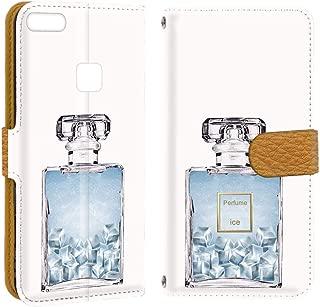 HUAWEI P10 lite WAS-LX2J ケース 手帳型 ミラータイプ 【透明ケース:アイス】 香水 ファーウェイ スマホケース 携帯カバー [FFANY] perfume-190753m
