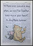 Parksmoonprints Winnie The Pooh Quote Vintage Dictionary Print Picture Wall Art Friend Cute Love
