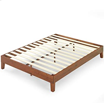 Zinus Wen 12 Inch Deluxe Wood Platform Bed Frame / Solid Wood / Mattress Foundation with Wood Slat Support / No Box S...