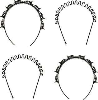 BELLO TOKO Pack of 2 Double Layer Twist Plait Headband Hairpin Double Bangs Hairstyle Hair Tools for Women Girls