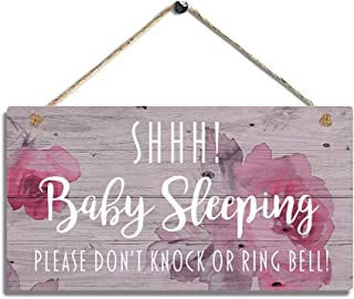 SAC SMARTEN ARTS Baby Room Decor, Front Door Decor Wall Art - Please Do Not Knock or Ring Bell - No Soliciting Hanging Wal...
