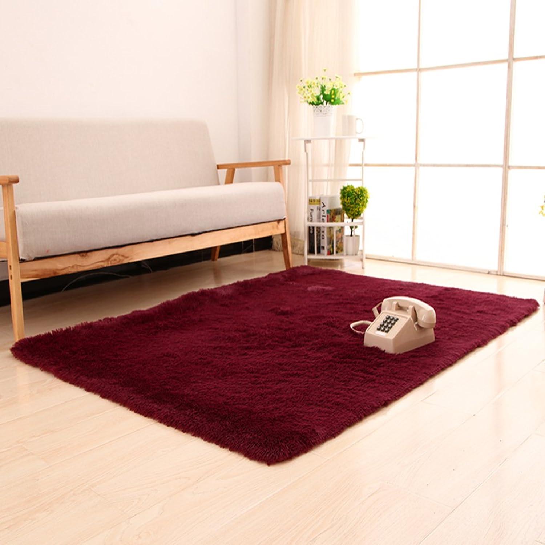 Silk Wool Thicken Blanket Bedroom Living Room Bedside Blanket Dirty Resistant Mat Non-Slip Water-Absorbing Mat-D 140x200cm(55x79inch)