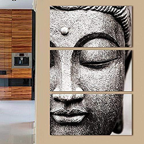 STJngAA Cuadro En Lienzo Carteles Decorativos Caseros Modernos Impresos En Cuadros De Pared De para Sala De Estar Cuadro Gris Cartel Buda Impresión De Pared -30X60Cmx3