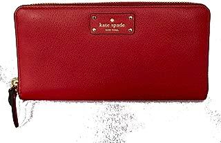 New Kate Spade Neda Grove Street Leather Zip Around wallet Red Carpet