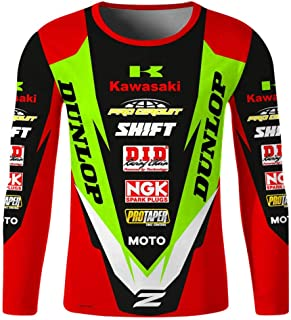 Motorcycle Jerseys Moto Motorcycle Mountain Bike Motocross Jersey T Shirt Clothes LBYGDQ (Color : Ivory, Size : XXL)