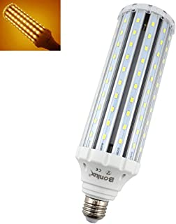 Bonlux E26 Medium Screw Base Corn LED Light Bulb, 50W(400W Halogen Equivalent), 4500lm E26 LED Retrofit Bulb for Replacement of HID, HPS, CFL, Incandescent, Metal Halide Lighting - Warm White 3000K