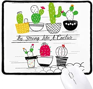 Mousepad Suculentas Vaso de Cactus com Bordas Costuradas Tapete de Borracha para Jogos