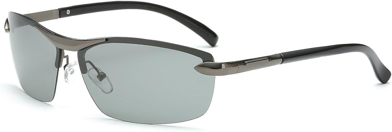 Galulas Discoloration Polarized Sunglasses Allweather Men Square Driving Glasses