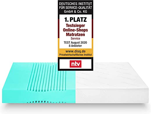 Snooze Project Essential Matratze 100 x 190 x 17 cm – Härtegrad H3 Mittel-Hart – Kaltschaum Raumgewicht RG 30 – Bezug waschbar 60° 100×190