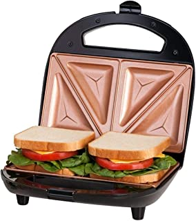 GOTHAM STEEL Sandwich Maker, Toaster and Electric Panini Grill with Ultra Nonstick Copper Surface - Makes 2 Sandwiches in ...