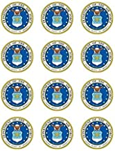 US Air Force Edible Cupcake Toppers - Set of 12