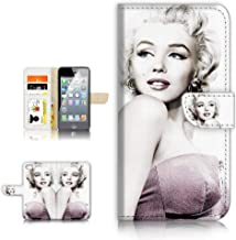 (for iPhone 8 Plus/iPhone 7 Plus) Flip Wallet Case Cover & Screen Protector Bundle - A21616 Marilyn Monroe