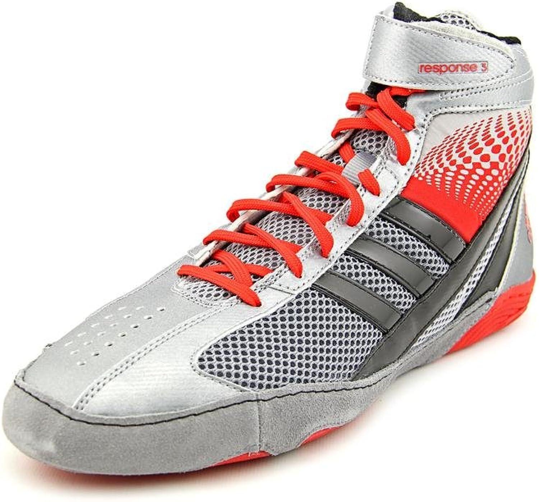 Adidas Wrestling Antwort 3.1 Wrestling-Schuh, schwarz   metallic silber   schwarz, 5 M Us