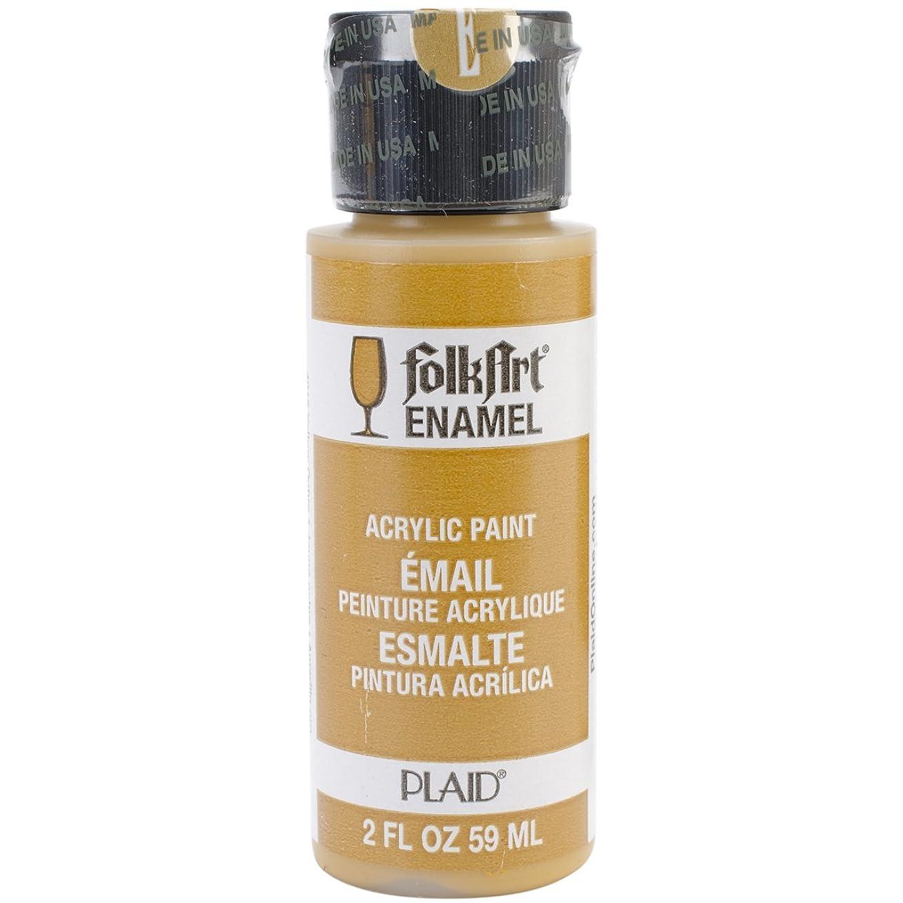 FolkArt Enamel Glass & Ceramic Paint in Assorted Colors (2 oz), 4015, Yellow Ochre