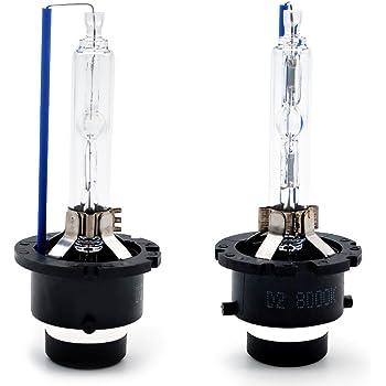 BeiLan D2S 10000k Ampoule X/énon HID Lampe de Rechange pour 12V 35W Voiture Phare Avant,lot de 2