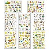 Bluelves Adesivi Pasqua, 8 Fogli Stickers Bambini per Pasquali, Adesivi Coniglio per Bambini Artigianato, Coniglio, Uovo, Pulcini (8 Fogli)