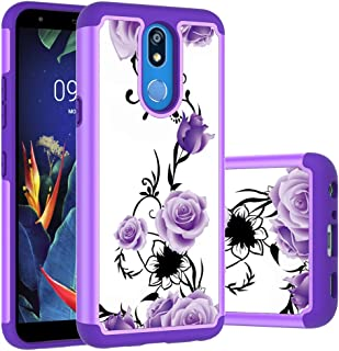 LG K40 Case, LG K12 Plus Case, LG X4 2019 Case, Yuanming Hybrid Dual Layer TPU & Hard Back Cover Bumper Protective Shock-Absorption & Skid-Proof Anti-Scratch Hybrid Case for LG K40 (Purple)