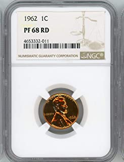 1962 Lincoln Cent PF-68 RD NGC
