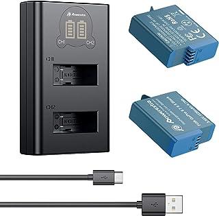 Powerextra 2 x Batería con Cargador de 2 Canales para GoPro Hero 8 Negro GoPro Hero 2018 Gopro Hero 7 Gopro Hero 6 Gopro Hero 5 Black