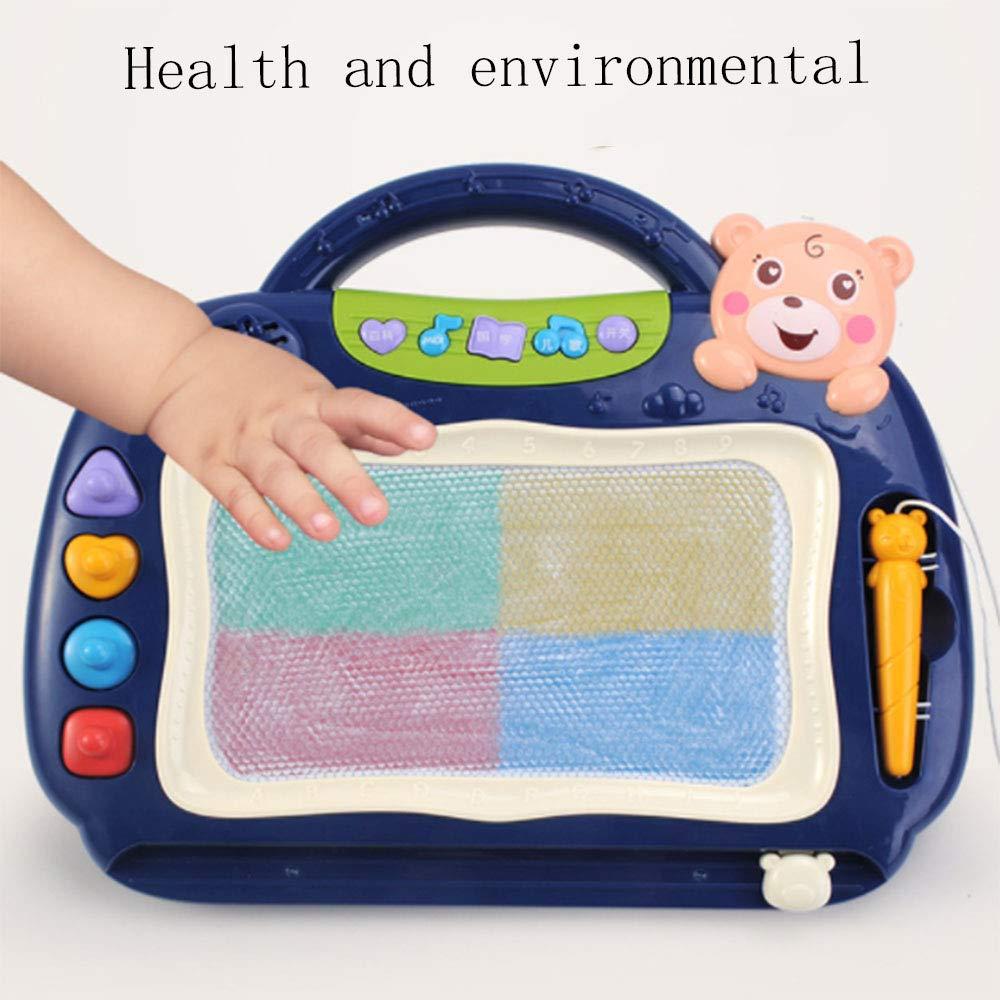 TWW Tablero de Dibujo magnético para niños Color Music, sólido y portátil, fácil de Deslizar, Tablero de Dibujo fácil de Dibujar y Dibujar, Adecuado para bebés de 1-3 años: Amazon.es: Hogar