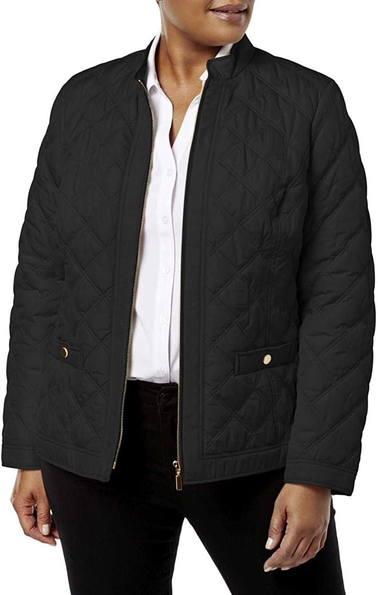 Charter Club Womens Plus Winter Warm Quilted Coat