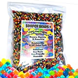 Sooper Beads Water Beads Rainbow Mix, 8 oz (20,000 beads) for Soothing Spa Refill, Sensory Toys and Dcor