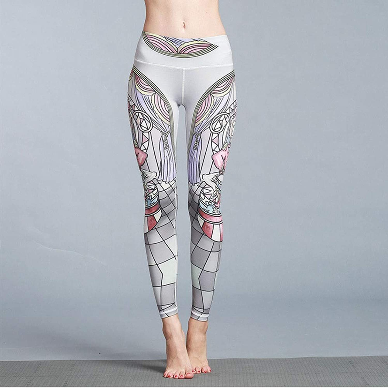 Yoga Pants Printed High Waist Yoga Pants Trousers Outdoor Sports Fitness Tight Stretch Lightweight Yoga Pants Female