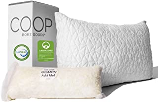 Best Coop Home Goods - Premium Adjustable Loft Pillow - Hypoallergenic Cross-Cut Memory Foam Fill - Lulltra Washable Cover from Bamboo Derived Rayon - CertiPUR-US/GREENGUARD Gold Certified - Queen Review