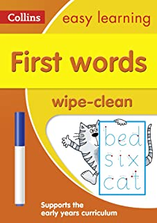 First Words Age 3-5 Wipe Clean Activity Book: Ideal for Home Learning