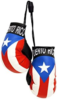 Silverline Puerto Rico Country Flag Mini Boxing Gloves to Hang Over Your Automobile Mirror