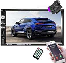 "$44 » Camecho 7"" Double Din Stereo with Bluetooth MP5 Player USB FM Multimedia Radio+ Remote Control+Steering Wheel Remote Suppo..."