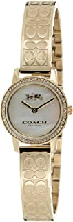 Coach Women's White Mother Of Pearl Dial Ionic Thin Gold Plated 1 Steel Watch - 14503497
