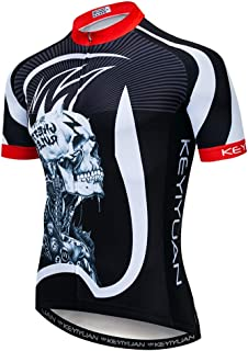 Uriah Men`s Cycling Jersey Short Sleeve with Rear Zippered Bag Reflective