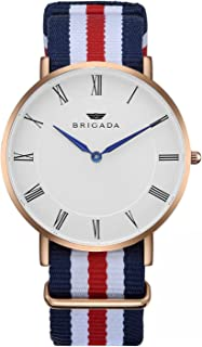 red white and blue watch