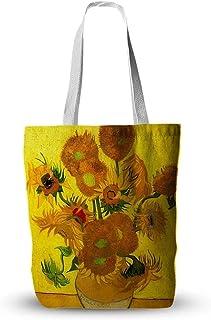 حقيبة قماش مع رسم زيتي فان جوخ صديقة للبيئة