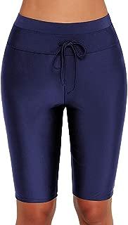 Womens Sport Board Shorts Swimsuit Bottom High Waisted Tankini Skinny Capris Swim Shorts