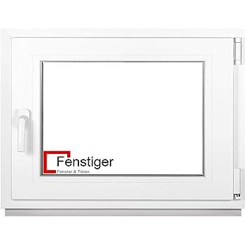 Kunststoff LAGERWARE wei/ß 3-fach-Verglasung 60mm Profil BxH: 50x60 cm Kellerfenster Fenster DIN links verschiedene Ma/ße