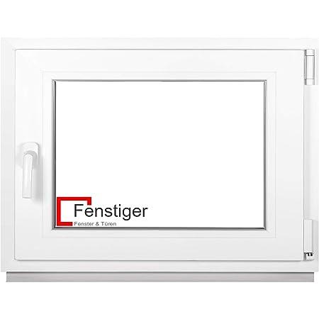 Kunststoff wei/ß Premium 2 fach Verglasung ALLE GR/Ö/ßEN Kellerfenster - Fenster Dreh-Kipp BxH:65x100 cm DIN Links PVC