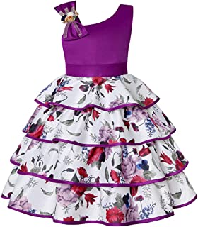 COMISARA 2T-9T Flower Girls Dresses Pageant Party Birthday Dance Ball Gown Dress