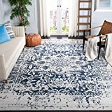 Safavieh Madison Collection MAD603D Vintage Snowflake Medallion Distressed Area Rug, 8' x 10', Cream/Navy