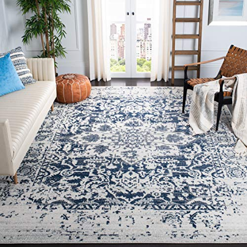 Safavieh Madison Collection MAD603D Vintage Snowflake Medallion Distressed Area Rug, 5