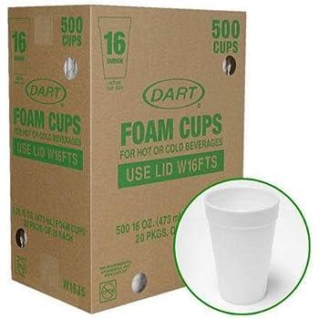 Amazon Com Dart Foam Cups 500 16oz Kitchen Dining