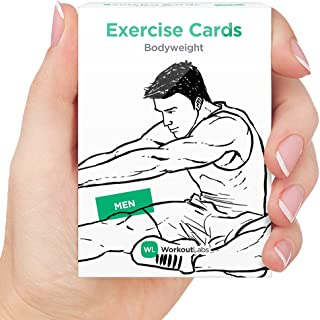 WorkoutLabs EXERCISE CARDS – Premium Visual Bodyweight Workout Cards by Waterproof Fitness Flash Cards for Home Workouts without Equipment