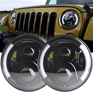 7 inch led headlight Black housing Auto hi-low beam car-stying Projector for 1981-1985 Jeep CJ-8 Scrambler