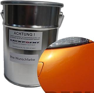 Lackpoint 0,5 Liter Spritzfertigen Basislack New Goldorange 2 Metallic Autolack